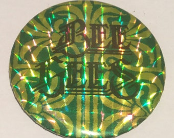 Vintage Bee Gees Prismatic Badge