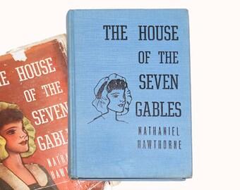 1937 House of the Seven Gables, Nathaniel Hawthorne Books, Vintage Novels, Vintage House of the Seven Gables from NewYorkBookseller on Etsy