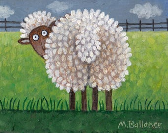 sheep painting backside