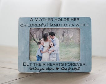 Christmas Gift A Mother Holds Her Children's Hands for Just a Little While Quote, Mom Gift, Gift for Mom, Gift for Wife
