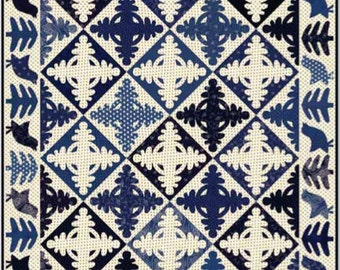 Indigo Revival Quilt Pattern by Minick and Simpson - Download