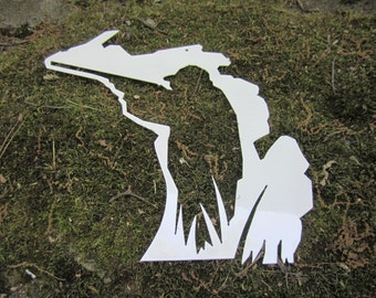 Metal Hunter/ hunting in Michigan wall art - wall decor - metal art