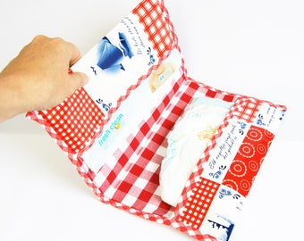 Dutch print diaper bag case, handmade diaper envelop, unique diaper bag, washable cotton diaper case, diaper bag for girls, baby shower gift