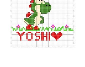 Yoshi Cross Stitch Pattern