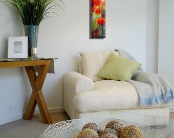 Abstract Wall Art, Decorative Art, Canvas Flower Art, Landscape Wall Art Beautiful Print, Large Vertical Art, Nature Painting