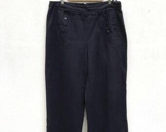 ON SALE 20% OFF Vintage Lauren Jeans by Ralph Lauren Sailor Pants Usn Pants Rrl Pants Navy Blue Pants