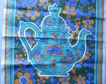 Teapot tea towel - Irish linen