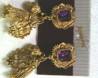 Vintage Jacqueline Ferrar earrings and Charm Bracelet set