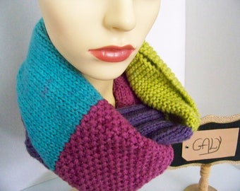 Large Double or scarf (Paisley Pop) # 222 neck warmer