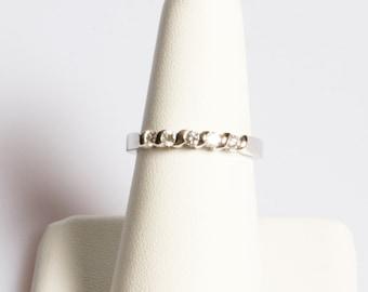 Five Stone Round Brilliant Cut Diamond Ring