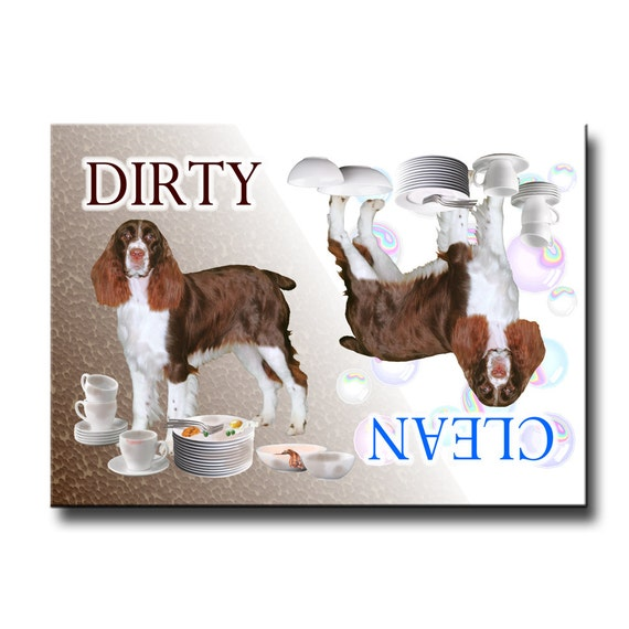 English Springer Spaniel Clean Dirty Dishwasher Magnet No 2