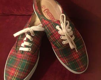 Vintage Holiday Plaid Sneakers