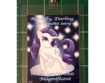 "My Little Pony 3x4"" Laminated Badge, Rarity"