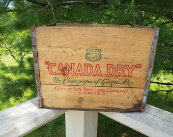 """1947 Antique Canada Dry """"The Champagne of Ginger Ales"""" Canada Dry Bottling Company of St. Louis"""