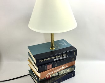 Literary Classics Book Lamp, Book Lover Gift, Library Decor, Desk Lamp,  Table