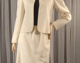 Vintage 70s Jacket and Skirt Spring Outfit Suit Size 11 12 b38 w26 h40