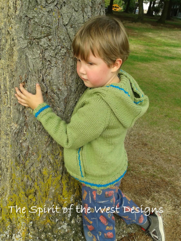 Knitting Pattern Hoodie Top Down Hooded Sweater Kangaroo Jacket ...