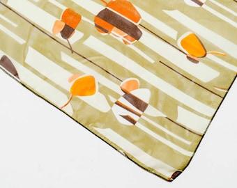 Vintage scarf, vintage neck scarf, head scarf, womens scarf, graphic print scarf, retro scarf, boho scarf, sheer scarf, Christmas gift