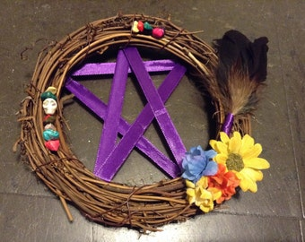 Colorful Pentacle Wreath