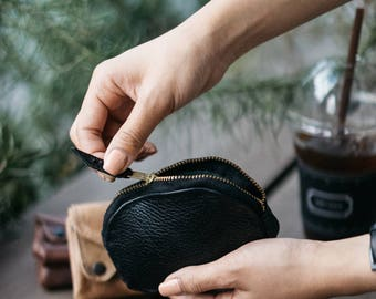 Leather Coin Purse | Leather Change Purse | Leather change pouch