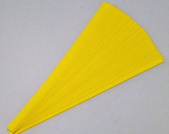 Lucky Stars Paper Strips (100): Bright Yellow