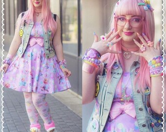 Creepy Cute Dress,  Baby Bunny Dress, Kawaii Bunny Dress, Doll Dress