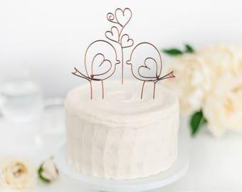 Love Birds - Birds Topper - Wedding Cake Topper - Birds Cake Topper - Wire Cake Topper - Wedding Love Brids - Weddinc Cake