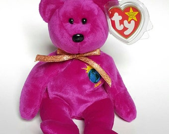 "4 Errors TY Beanie Baby MILLENNIUM ""Millenium"" No number, Limited Tag MWMT, Collectible bear"