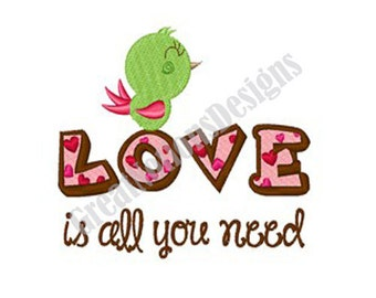 Love - Machine Embroidery Design