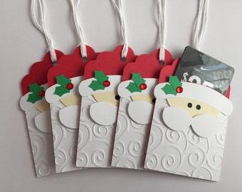 Handmade Santa Gift Card Holders, Christmas, Gift Card