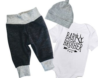 Baby Boy Coming Home outfit, Baby Brother Outfit, Coming home outfit, newborn boy gift, Baby Brother, baby boy outfit, Little Brother Onesie