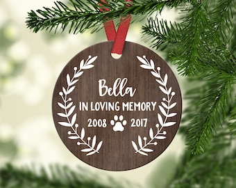 Pet Memorial Ornament Pet Memorial Christmas Ornament Pet Memorial Gifts Dog Memorial Gift Dog Memorial Ornament Pet Loss Gifts Wood Cute