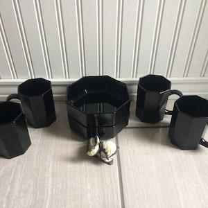 Arcoroc black mug   Etsy