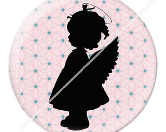 resin cabochon is 25 mm Angel 2 stick
