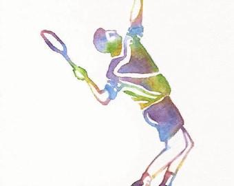 Tennis Print, Tennis Painting, Tennis Wall Art, Tennis Gift, Sports Decor, Kids Sports Decor, Fathers Day Gift, Tennis Art, Kids Room Decor