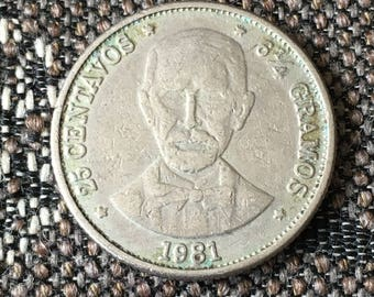 1981 Dominican Republic 25 centavos
