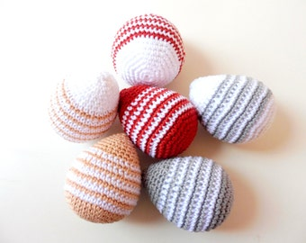 Pack of 2 crochet Easter eggs