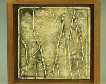 Textured Abstract Landscape Tile