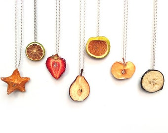 Fruit Jewelry Glitterlimes Necklaces