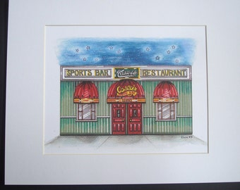 Casey's, by Karen Paciullo, 2014, Throggs Neck, Bronx, NY,  ready to frame art print