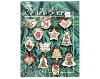 Christmas Cross Stitch Leaflet, Christmas Ornaments, Christmas Decorations, , Christmas Patterns, Santas Cross Stitch, NewYorkTreasures