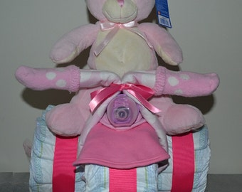 Diaper Tricycle  - My First Teddy (Also available in Blue)