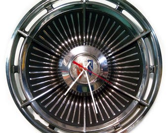 1963 Buick Wall Clock - Electra LeSabre Hubcap Clock - Classic Car Hub Cap - 60's Office Clock