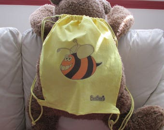 Bee Bees's Cotton Drawstring BackPack