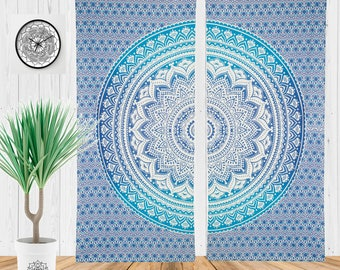 Bohemian Curtains, Gypsy Curtains, Tapestry Window Treatment, Yoga Studio Decor, Boho Chic Bedroom Curtains