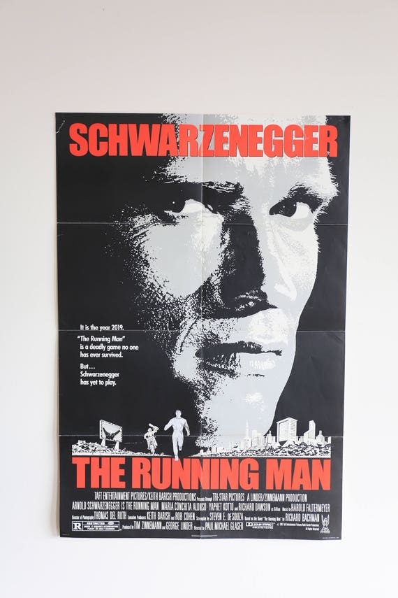 Original Theatrical One Sheet Film Poster - Running Man