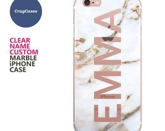 iphone 7 plus personalised marble case