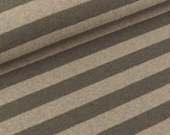 Fine knit Lenn strips mud-beige mottled (17.90 EUR/meter)