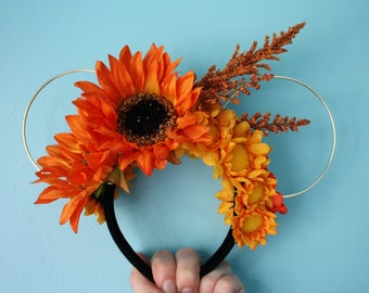Wire Minnie Mouse Halloween and Autumn Ears