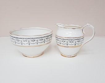 Vintage Sugar & Creamer Set, Roslyn China, Lindon Pattern, 1920s Sugar Bowl and Milk Jug,